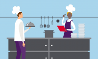 Адаптация ресторанов и персонала, официантов, во время COVID-19 — одежда и средства защиты